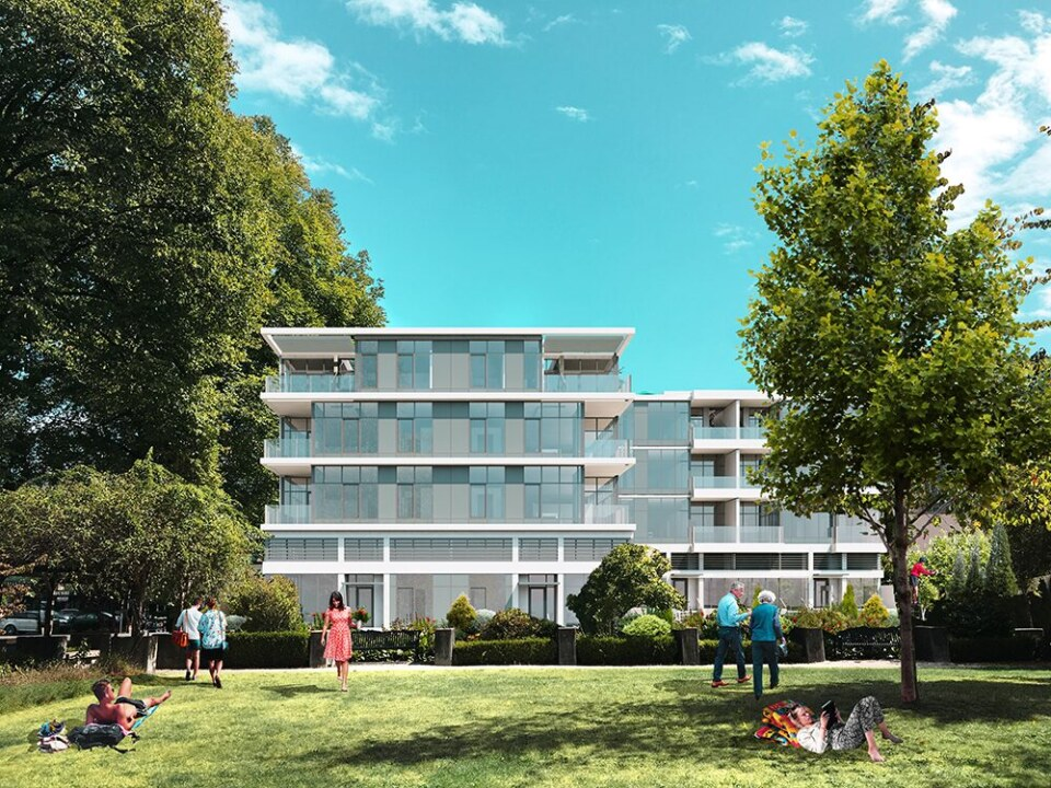 Rendering of a Kitsilano Vancouver mixed-use project on Arbutus Street