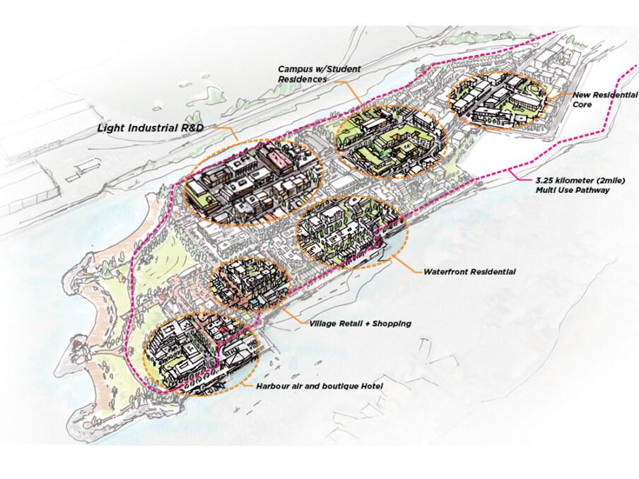 Squamish Oceanfront - concept neighbourhoods