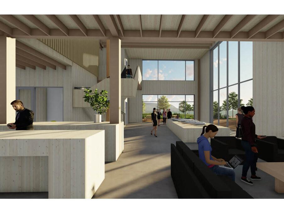 Squamish Oceanfront presentation Centre interior 1