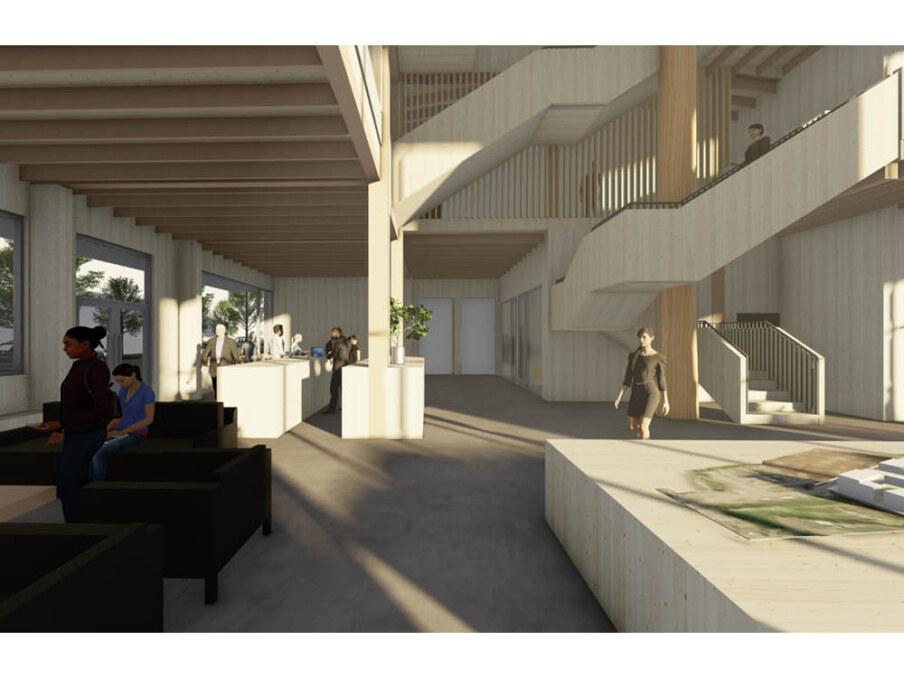Squamish Oceanfront presentation Centre interior 2
